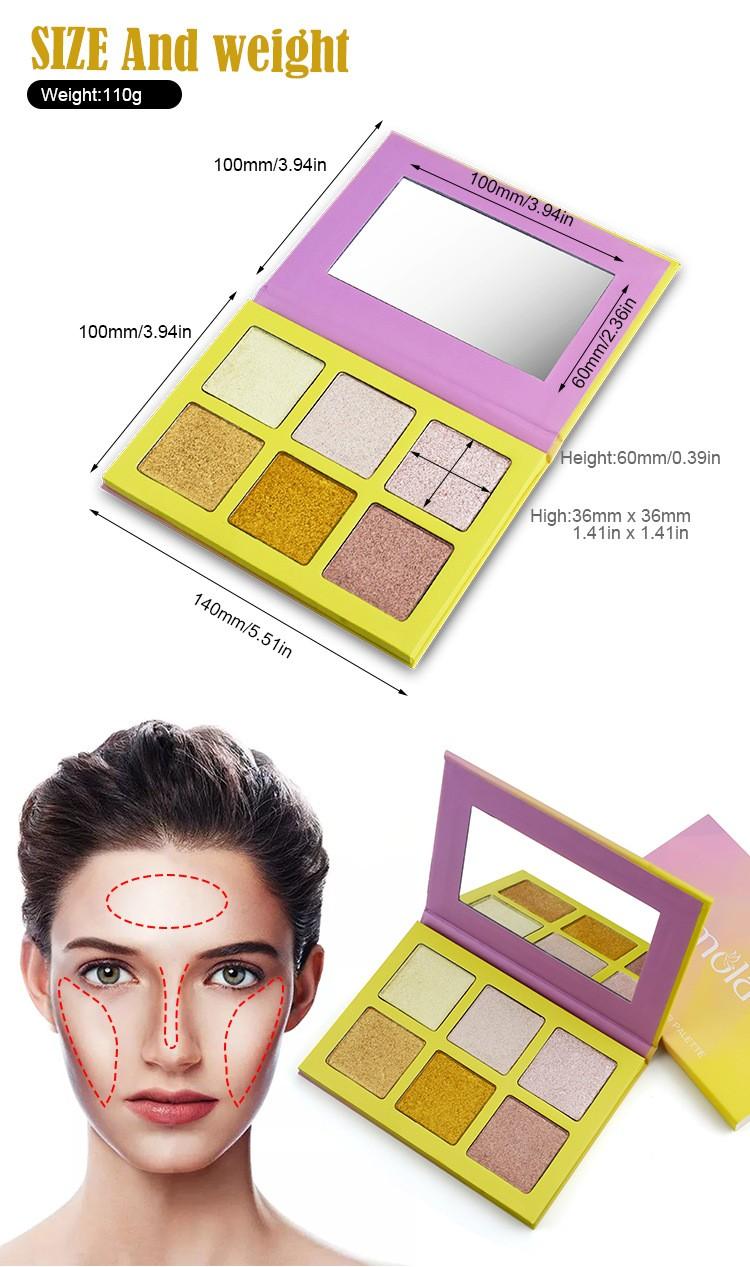 Cosmetics Highlighter Palette